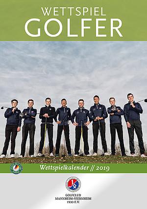 Golfer Wettspielkalender 2019 Titelbild