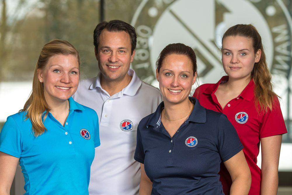 Gruppenfoto GCMV Jugendleitung; v.l.n.r. Eva Mayer, Dr. Jörg Nikitopoulos, Nora Honsel, Anna Deitz