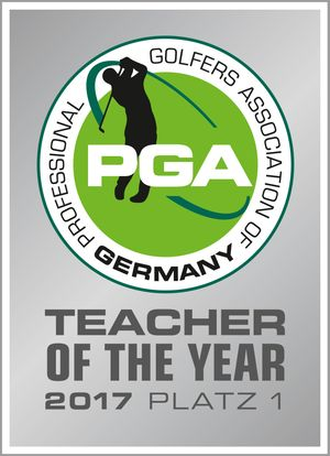 Abzeichen PGA Teacher of the Year 2017 Platz 1