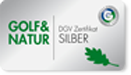 Logo Golf & Natur – Silber