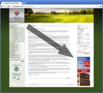 Bannerposition auf der Website